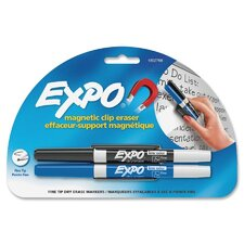 Dry Erase Markers and Magnetic Clip Eraser