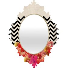 Bianca Green Chevron Flora Baroque Wall Mirror