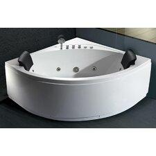 59 x 59 Double Seat Corner Whirlpool Bathtub by EAGO