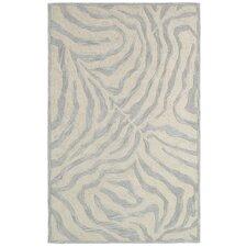 Fashion Taupe & Silver Shag Area Rug