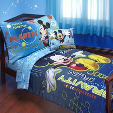 Mickey Mouse Space Adventures 4 Piece Toddler Bedding Set
