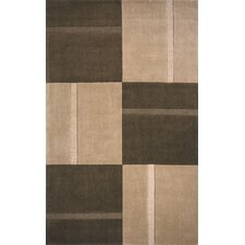 Metro Hand Tufted Wool Brown Area Rug