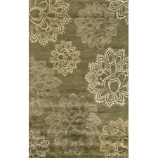 Zen Hand Tufted Wool Olive Area Rug