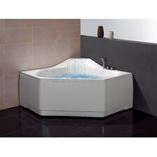 59 x 59 Whirlpool Tub with Waterfall Faucet by Ariel Bath