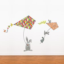 Ludo Bunnies and Kites Wall Decal by ADZif