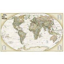 World Explorer Executive Wall Map (Set of 2)