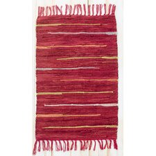 Canyon Red Stripe Area Rug