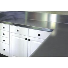 Stainless Steel Counter Top with Blacksplash