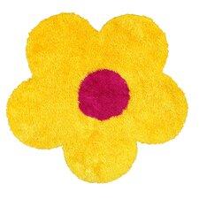 Senses Shag Yellow Flower Area Rug
