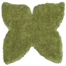 Senses Shag Butterfly Green Area Rug