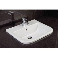 Series 600 42cm Semi-Recessed Basin