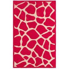 Fashion Pink Giraffe Area Rug
