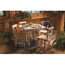 Square Solid Top Cedar Dining Table