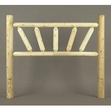 Rustic Sunburst Log Bed Open-Frame Headboard