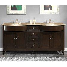 Kelston 72 Double Bathroom Vanity Set by Silkroad Exclusive