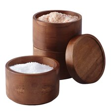 Tools and Gadgets 4 Piece Wooden Stacking Salt Box