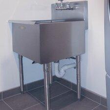 24 x 21 single freestanding utility sink