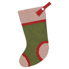 North Pole Piper Piping Christmas Stocking