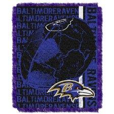 NFL Baltimore Ravens Triple Woven Jacquard Throw Blanket