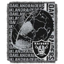 NFL Oakland Raiders Triple Woven Jacquard Throw Blanket