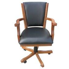 Kingston Poker Genuine Leather Upholstered Dining Chair (Set of 4)