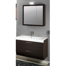 New Day 38 Single Wall Mounted Bathroom Vanity Set with Mirror by Iotti by Nameeks