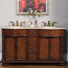 Butler 60 Double Bathroom Vanity Set by Silkroad Exclusive