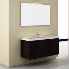 Space 47 Single Wall Mount Bathroom Vanity Set with Mirror by Iotti by Nameeks