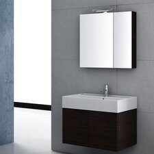 Smile 32 Single Wall Mount Bathroom Vanity Set with Mirror by Iotti by Nameeks