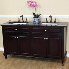 Lewis 62 Double Bathroom Vanity Set by Bellaterra Home