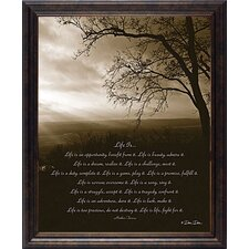 Life Is by Dee Dee Framed Graphic Art