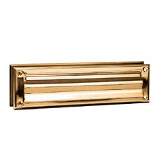 13 in x 3.5 in Brass Mail Slot
