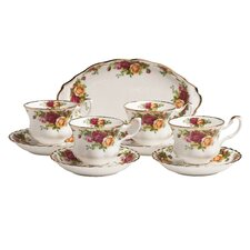 Old Country Roses Tea Set (Set of 9)