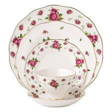 New Country Roses Vintage formal Bone China 5 Piece Place Setting, Service for 1