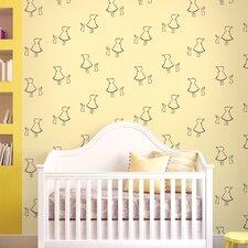 """Bunny up 2.17' x 26"""" Figural Wallpaper"""