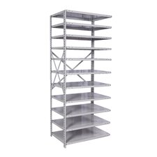 "MedSafe Antimicrobial Knock-Down Hi-Tech 87"" H 10 Shelf Shelving Unit Starter"