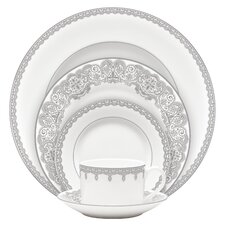 Lismore Lace Bone China 5 Piece Place Setting, Service for 1