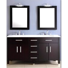 Plum 72 Double Bathroom Vanity Set with Mirror by Cambridge Plumbing