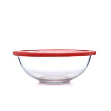 Smart Essentials 4 Qt Mixing Bowl with Red Plastic Cover