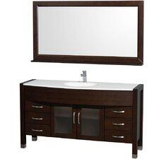 Daytona 60 Single Espresso Bathroom Vanity Set with Mirror by Wyndham Collection