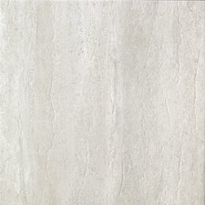 "Travertini 16.75"" x 16.75"" Porcelain Field Tile in Matte Grey"