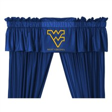 "NCAA 88"" West Virginia Mountaineers Curtain Valance"