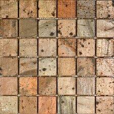 "2"" x 2"" Slate Mosaic Tile in Copper"
