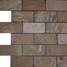 "2"" x 4""  Slate Mosaic Tile in Copper"