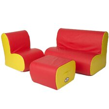Cloud 3 Piece Soft Seating