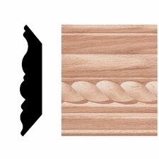 3/4 in. x 3-3/4 in. x 8 ft. Oak Rope Crown Moulding