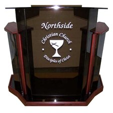Deluxe Clear Acrylic Lectern