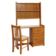 "43"" Writing Desk with Hutch"