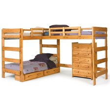 twin l shaped bunk bed customizable bedroom set