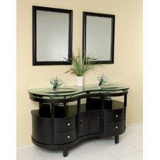 Classico 63 Double Unico Modern Bathroom Vanity Set with Mirror by Fresca